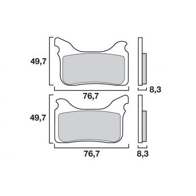Plaquettes de frein Brembo 07GR76SA métal fritté