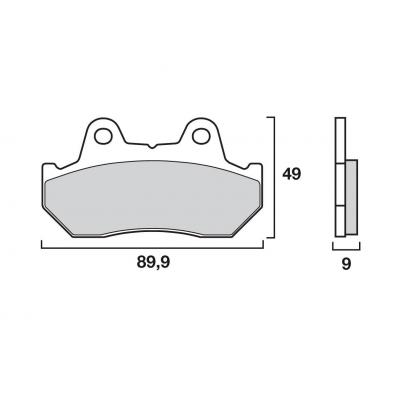 Plaquettes de frein Brembo 07HO18SP métal fritté