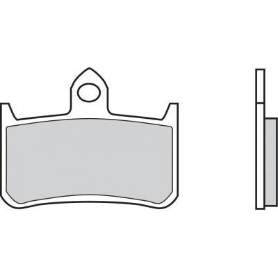 Plaquettes de frein Brembo 07HO28LA métal fritté route