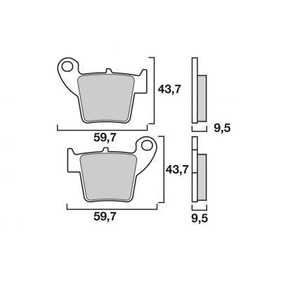 Plaquettes de frein Brembo 07HO48SD métal fritté