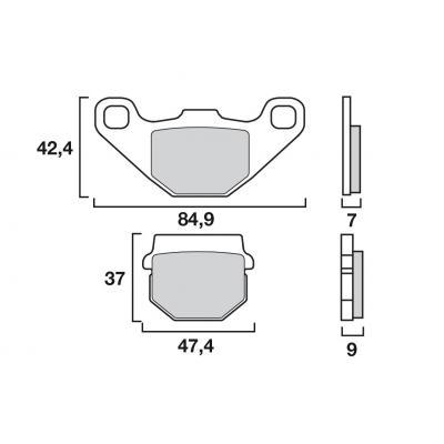 Plaquettes de frein Brembo 07KA07SX métal fritté racing