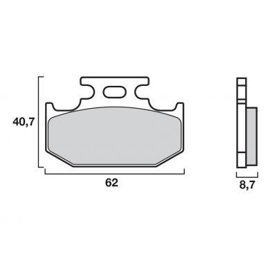 Plaquettes de frein Brembo 07KA12SX métal fritté racing