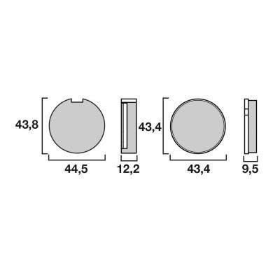 Plaquettes de frein Brembo 07KS0321 organique