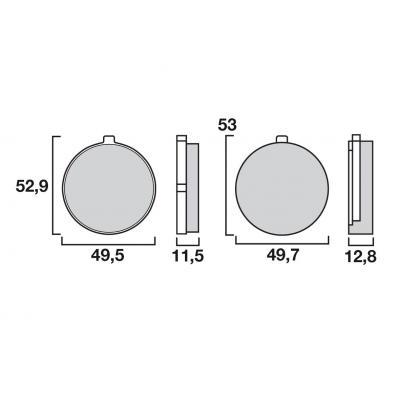 Plaquettes de frein Brembo 07SU0220 organique
