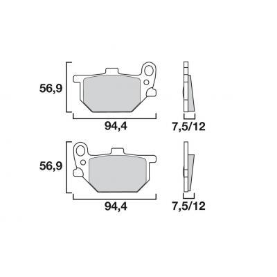 Plaquettes de frein Brembo 07YA0713 organique
