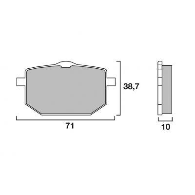 Plaquettes de frein Brembo 07YA18SA métal fritté