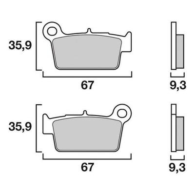 Plaquettes de frein Brembo 07YA41CC carbone céramique