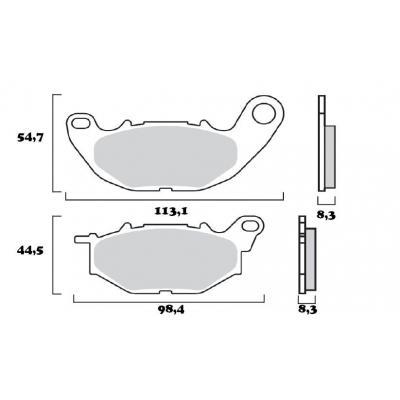 Plaquettes de frein Brembo 07YA52SA métal fritté