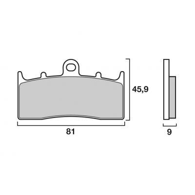 Plaquettes de frein Brembo avant 07gr62 sa
