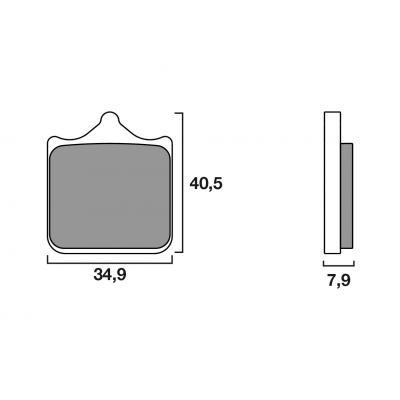 Plaquettes de frein Brembo métal fritté 07BB33SA