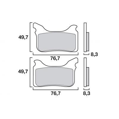 Plaquettes de frein Brembo métal fritté 07GR75SX