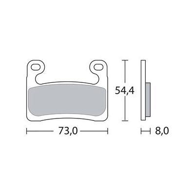 Plaquettes de frein Brembo métal fritté 07GR90SA