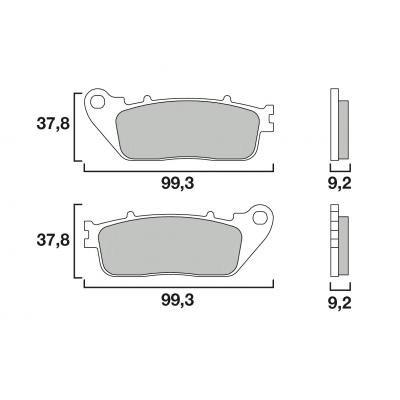 Plaquettes de frein Brembo métal fritté 07HO13SP