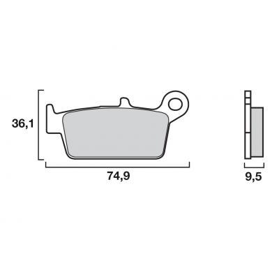 Plaquettes de frein Brembo métal fritté 07HO26SD