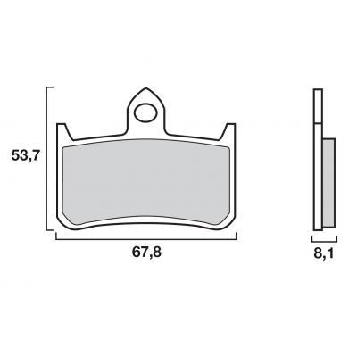 Plaquettes de frein Brembo métal fritté 07HO28SA