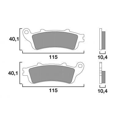 Plaquettes de frein Brembo métal fritté 07HO52SP