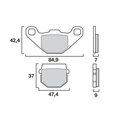 Plaquettes de frein Brembo métal fritté 07KA07SD