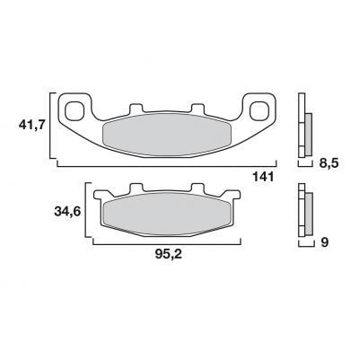 Plaquettes de frein Brembo métal fritté 07KA09SA