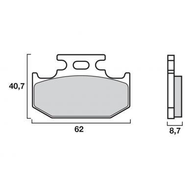 Plaquettes de frein Brembo métal fritté 07KA12SD