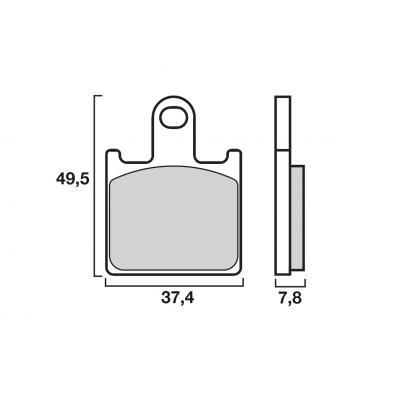Plaquettes de frein Brembo métal fritté 07KA28SA
