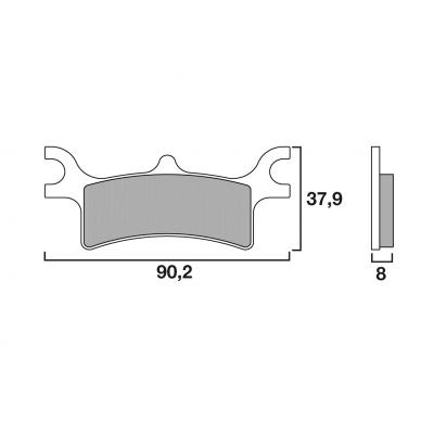 Plaquettes de frein Brembo métal fritté 07PO06SX