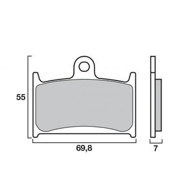 Plaquettes de frein Brembo métal fritté 07SU22SA