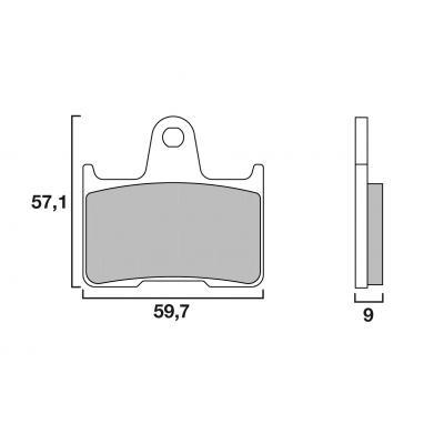 Plaquettes de frein Brembo métal fritté 07SU25SP
