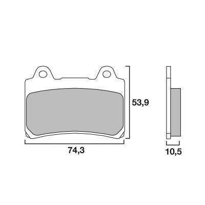 Plaquettes de frein Brembo métal fritté 07YA17SP