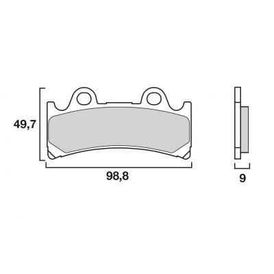 Plaquettes de frein Brembo métal fritté 07YA32SA