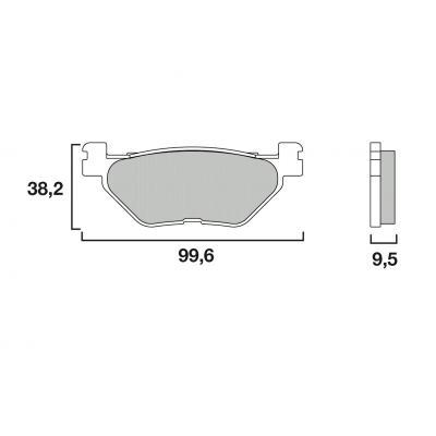 Plaquettes de frein Brembo métal fritté 07YA39SP