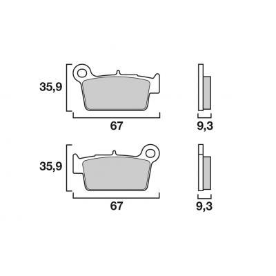 Plaquettes de frein Brembo métal fritté 07YA41SX