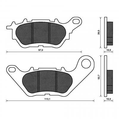 Plaquettes de frein C4 arrière X-Max 125/300
