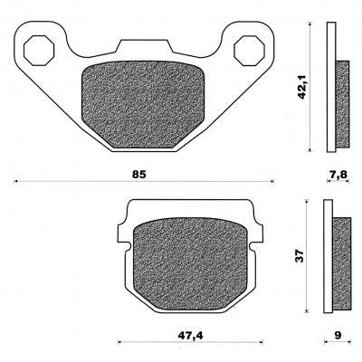 Plaquettes de frein C4 CPI Rieju 125