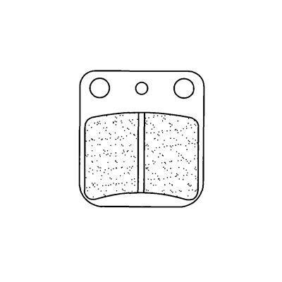 Plaquettes de frein Carbone Lorraine 2408A3+