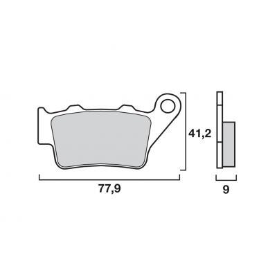 Plaquettes de frein d'origine Brembo métal fritté 07BB0258