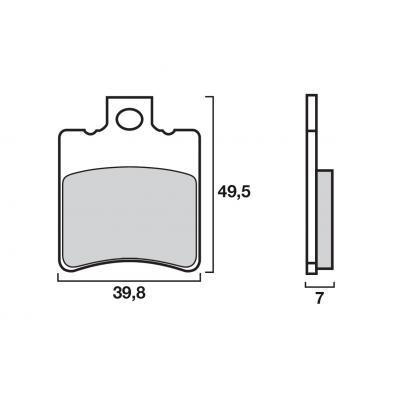 Plaquettes de frein d'origine Brembo carbone-céramique 07BB1834
