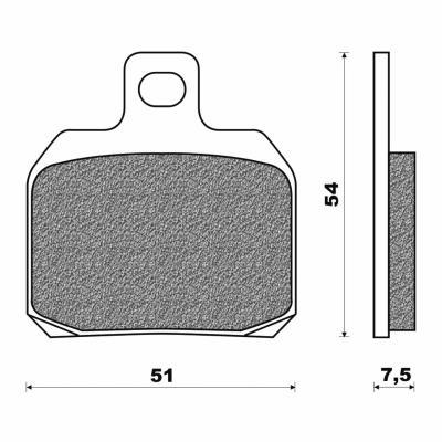 Plaquettes de frein Newfren Aprilia 50 RS 06 / Derbi 50 GPR 04-
