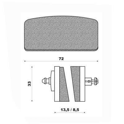 Plaquettes de frein Newfren BMW R 60 76-80 / R100 76-80