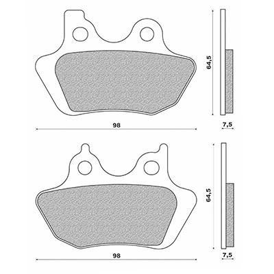 Plaquettes de frein Newfren Harley Davidson 1450 883-1200 XL 00-03