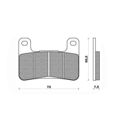 Plaquettes de frein Newfren Racing sinter .FD.0362 S4R