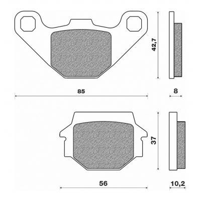 Plaquettes de frein Newfren FD0073SD pour Kawasaki 500 GPZ 88-04 / Suzuki 125 GS 95-00 / 125 GN 95-0