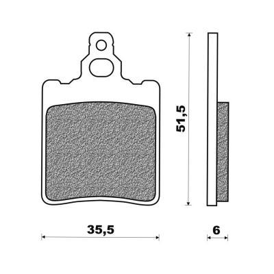 Plaquettes de frein Newfren Standard organique .FD.0048 BS