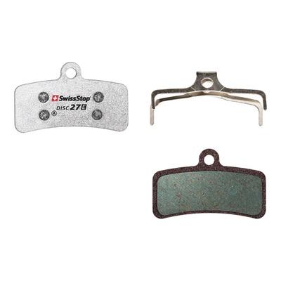 Plaquettes de frein organique Swissstop Disc27E pour Shimano, TRP et Tektro