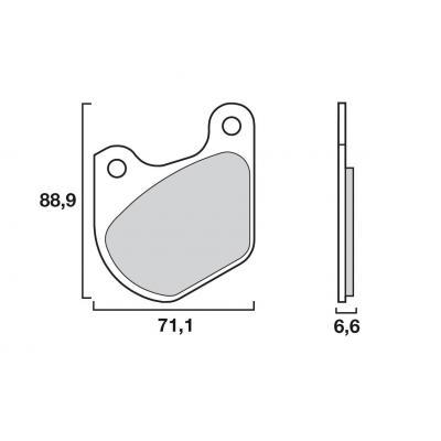 Plaquettes de frein origine Brembo 07HD0303 organique