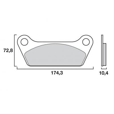 Plaquettes de frein origine Brembo 07HD0507 Organique