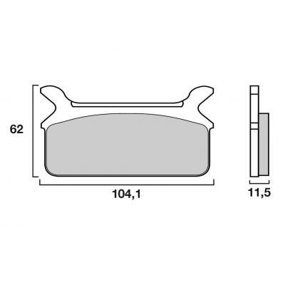 Plaquettes de frein origine Brembo 07HD0910 Organique