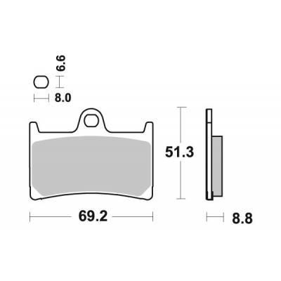 Plaquettes de frein SBS 634SP