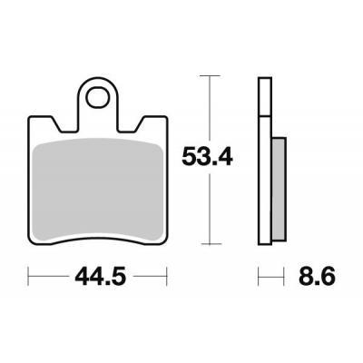 Plaquettes de frein SBS 740SP