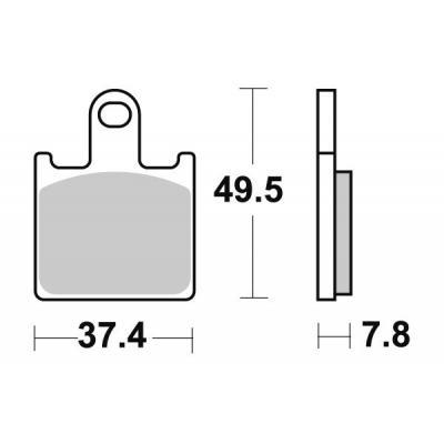 Plaquettes de frein SBS 838SP
