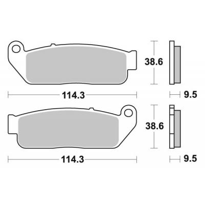 Plaquettes de frein SBS 929H.HF